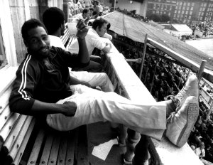 Viv Richards relaxing with a cold drink after his career best 291, England vs West Indies, 5th Test, 2nd Day, The Oval, August 13, 1976.