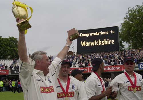 Bob Woolmer with the spoils of victory