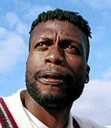 Curtly Ambrose - the most deadly bowler of his generation and in many all-time Test cricket XI teams.