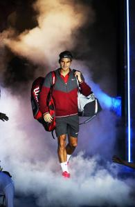 Roger Federer's aura as he walks to the court is elegance and prose