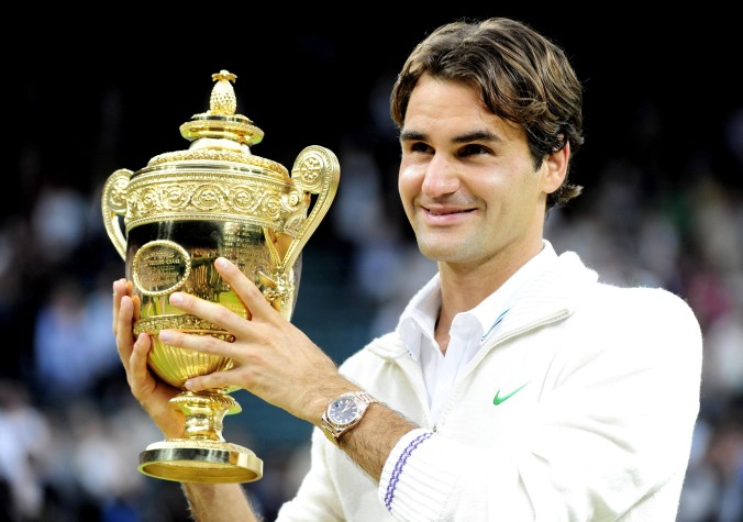 Roger Federer will be seeking his eighth Wimbledon title and eighteenth Grand Slam title this week.