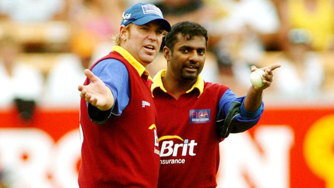 TWIN TOWERS: Shane Warne and Muttiah Muralitharan, the two most accomplished spin bowlers in cricket history.