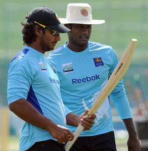"ABSOLUTELY CORRECT: Sri Lankan captain Angelo Mathews said, "" I haven't seen the great Donald Bradman but Sangakkara is easily the most consistent batsman I've ever seen."" AFP PHOTO/ LAKRUWAN WANNIARACHCHI (Photo credit should read LAKRUWAN WANNIARACHCHI/AFP/GettyImages)"