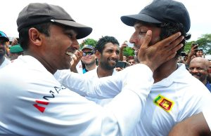 BEST FRIENDS & HIGHEST PARTNERSHIP: Jayawardene and Sangakkara are the second-most prolific run-scoring pair in Test history. (Getty Images)