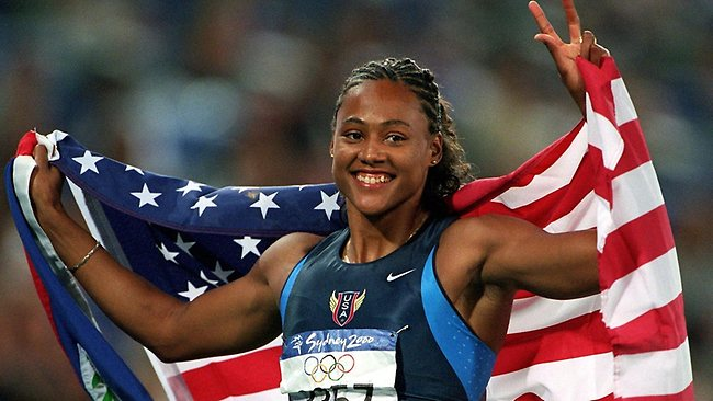 Marion Jones won five medals at the Sydney Games, including three gold, but in 2007 she admitted to taking steroids after an investigation by US authorities. (Photo credit: AFP)