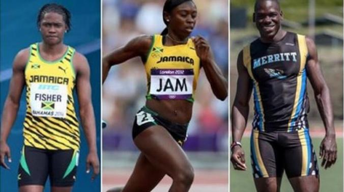 Two months ago, news broke that Jamaicans Shericka Williams (centre), Andrew Fisher (left) and Kemarley Brown (right) have requested to switch allegiance to Bahrain. (Photo source: LOOP Jamaica)