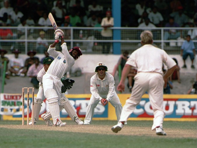 """Brian Lara knock of 153* was described by Wisden as """"the hand of a genius"""" and is ranked as the second best Test inning of all-time. Bradman's 270 is #1 © Getty Images"""