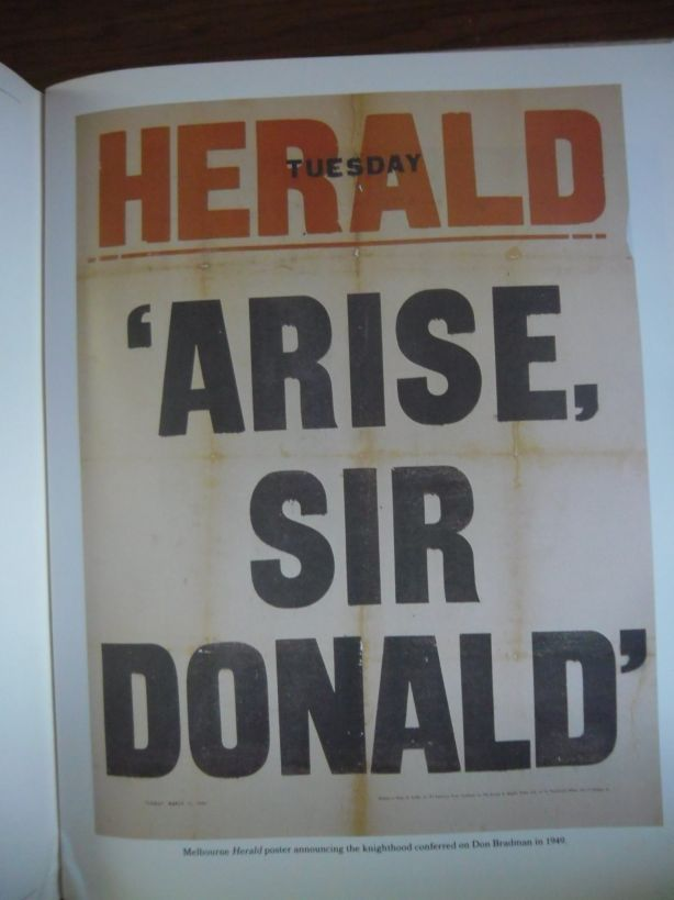 Herald heralds Sir Donald.