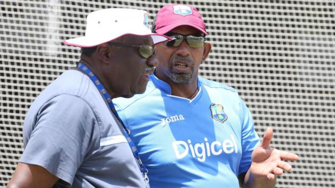 West Indies coach Phil Simmons and Convenor of Selectors, Clive Lloyd have been at the centre of the latest conundrum in West Indies cricket. Photo: Jason O'Brien/Action Images/Livepic