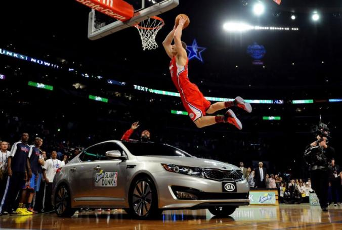 Blake Griffin Jumps Over a Kia and Wins 2011 NBA Dunk Contest