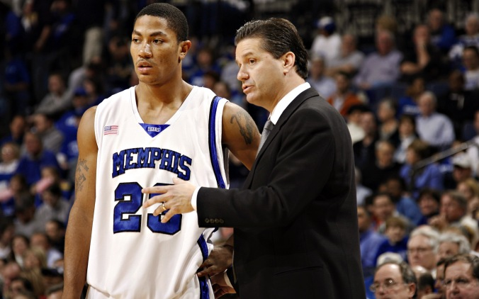 Rose lead his Memphis Tigers team to the 2008 title game (Photo: Joe Murphy/Getty Images)
