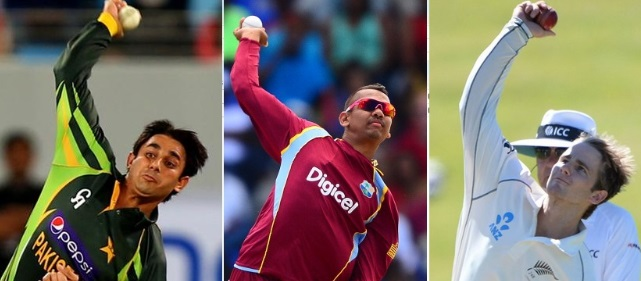 Saeed Ajmal, Sunil Narine and KAne Williamson were all reported for suspect actions in 2014 shortly after the ICC annual conference.
