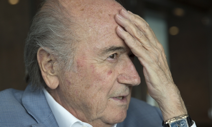 Sepp Blatter has admitted that the suspensions of himself, Platini and Valcke has put FIFA's governance in a crisis (Photograph: TASS / Barcroft Media)