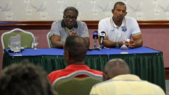 File photo - Phil Simmons and Clive Lloyd pushed for the inclusion of Dwayne Bravo and Kieron Pollard for the Sri Lanka ODIs but were outvoted© WICB Media Photo/Philip Spooner
