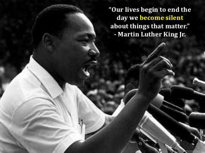 Martin Luther King our lives begin to end