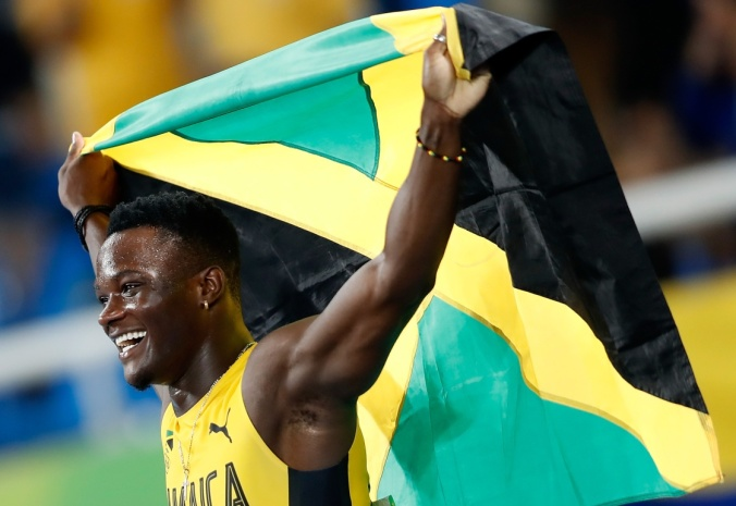 Omar McLeod has said fellow Jamaican sprinters Usain Bolt and Shelly Ann Fraser-Pryce helped inspire him to his Olympic gold medal victory in the 110m hurdles. (Photo credit: Xinhua News Agency)