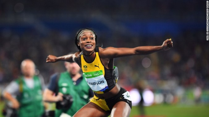 Elaine Thompson (Photo credit: Carl de Souza/AFP/Getty Images)