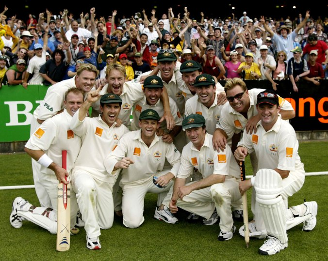 The Australian team of the early 2000s is possibly the strongest Test team of all time © Getty Images