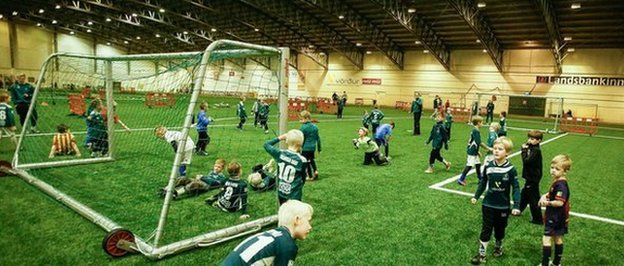 In Iceland kids as young as 4 y-o have UEFA accredited coaches. In addition 3G pitches inside heated indoor domes ensure football can be played all year round. (Photo credit: Iceland FA)