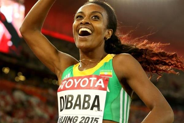 Genzebe Dibaba wins the 1500m at the IAAF World Championships, Beijing 2015  (Photo credit: Getty Images)
