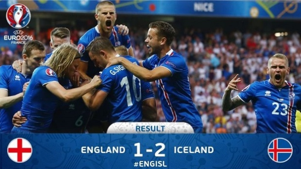 Iceland ousts England from the Euro 2016 with a shocking 2-1 victory in the Round of 16.