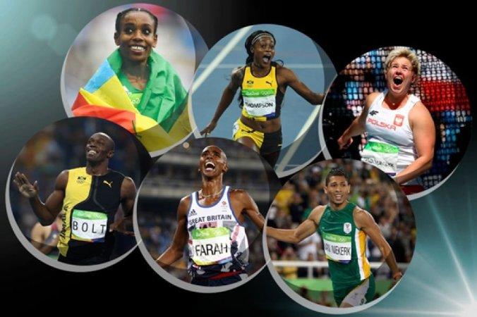 The finalists for the 2016 IAAF Athletics Awards 2016 are (in alphabetical order): Men: Usain Bolt (JAM), Mo Farah (GBR) and Wayde van Niekerk (RSA) Women: Almaz Ayana (ETH), Elaine Thompson (JAM) and Anita Wlodarczyk (POL) (Photo credit: Getty Images)